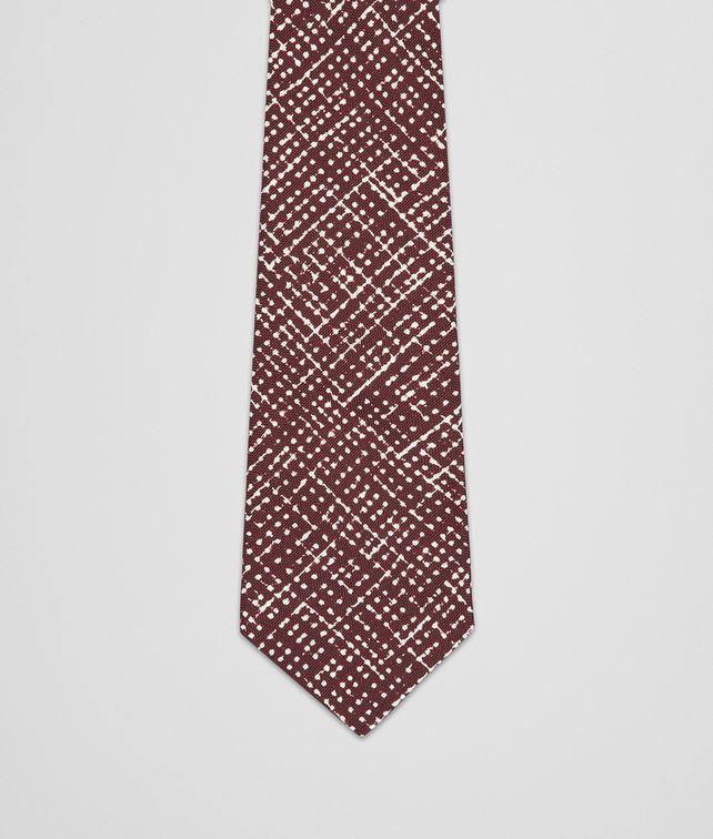 BOTTEGA VENETA Amaranth Beige Silk Tie Tie U fp