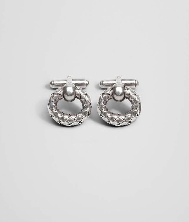 BOTTEGA VENETA CUFFLINKS IN INTRECCIATO SILVER Other Silver Accessory U fp