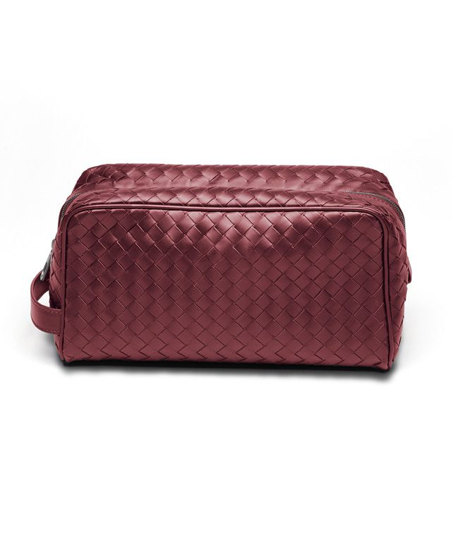 BOTTEGA VENETA BEAUTY CASE IN VERMILLON INTRECCIATO VN Other Leather Accessory D fp