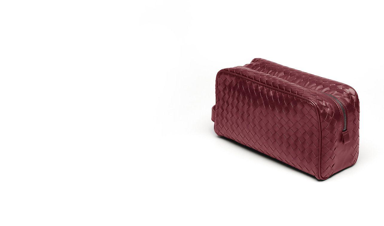 BOTTEGA VENETA Other Leather Accessory D BEAUTY CASE IN VERMILLON INTRECCIATO VN pl