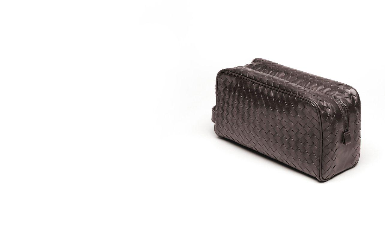 BOTTEGA VENETA Other Leather Accessory D BEAUTY CASE IN EBANO INTRECCIATO VN pl