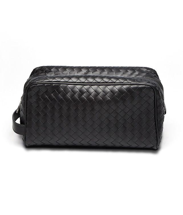 BOTTEGA VENETA BEAUTY CASE IN NERO INTRECCIATO VN Other Leather Accessory D fp