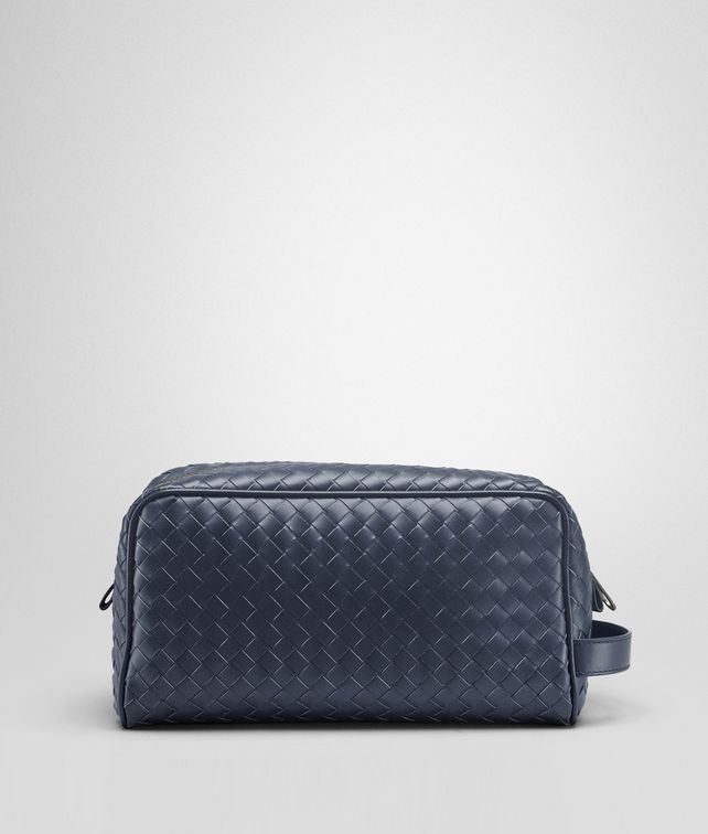 BOTTEGA VENETA TOILETRY CASE IN TOURMALINE INTRECCIATO VN Small bag U fp