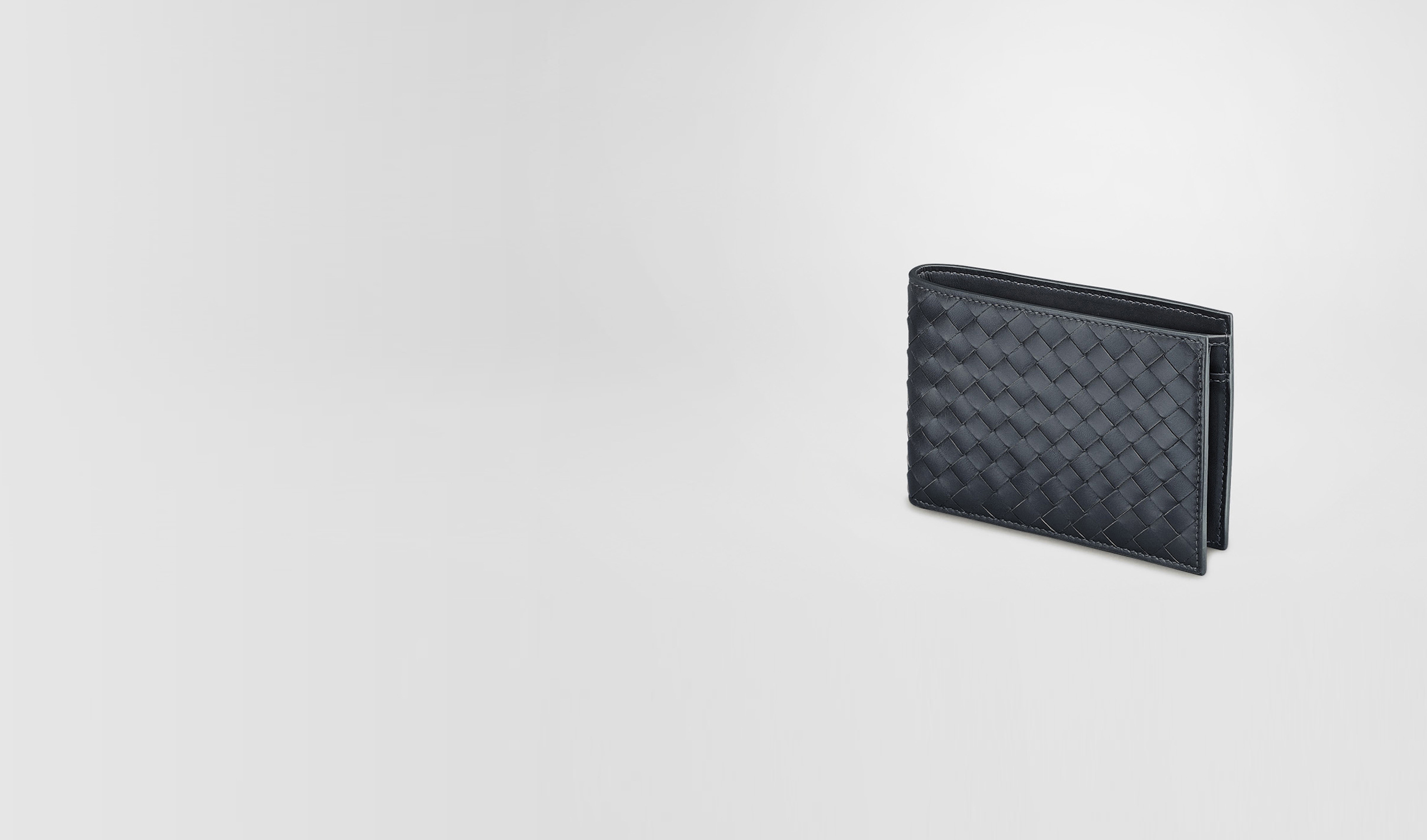 BOTTEGA VENETA Bi-fold Wallet U Light Tourmaline Intrecciato VN Wallet pl