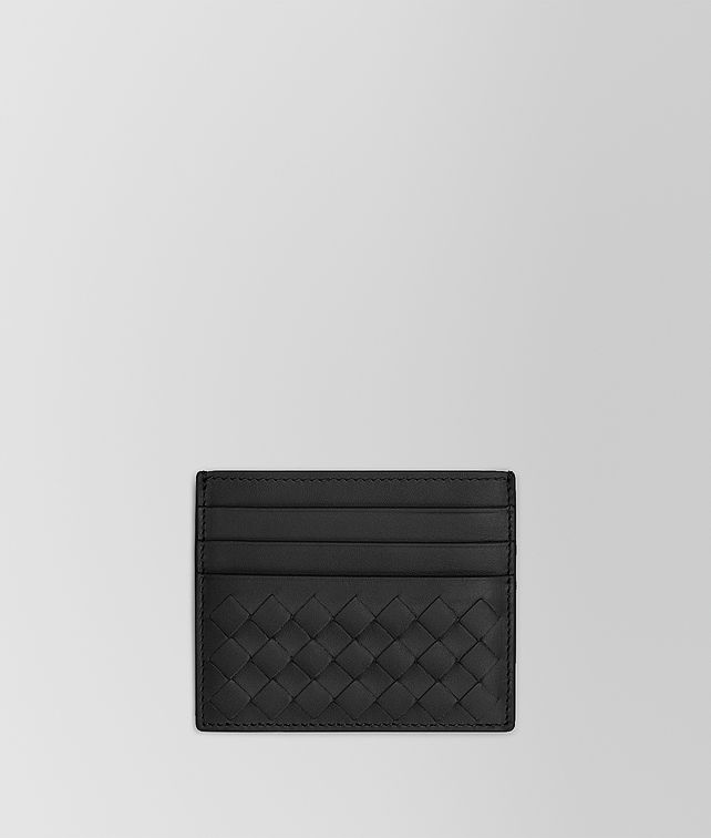 BOTTEGA VENETA CARD CASE IN NERO INTRECCIATO VN Card Case or Coin Purse Man fp