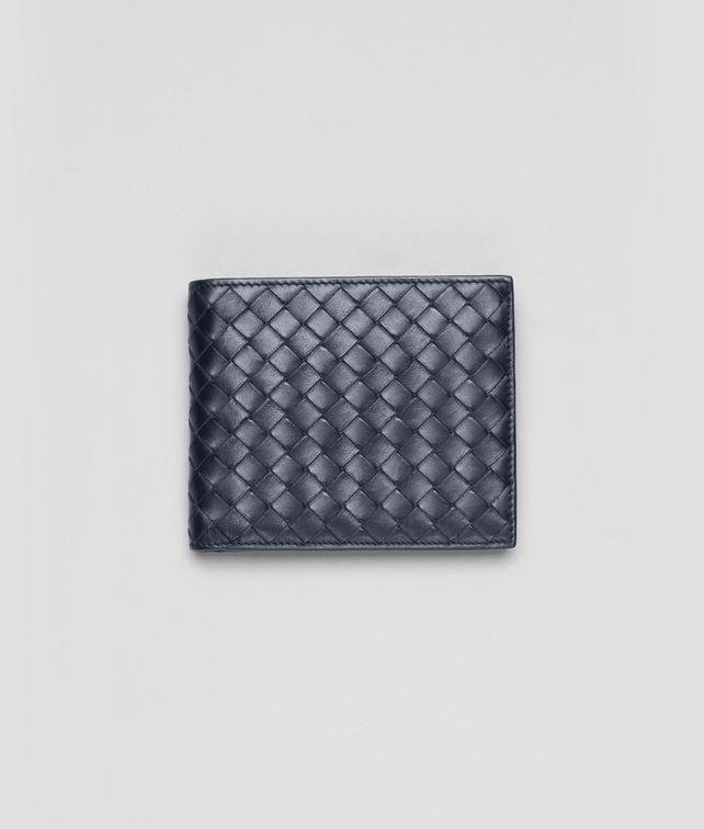 BOTTEGA VENETA Portemonnaie aus VN-Leder Intrecciato Light Tourmaline Faltbares Portemonnaie U fp
