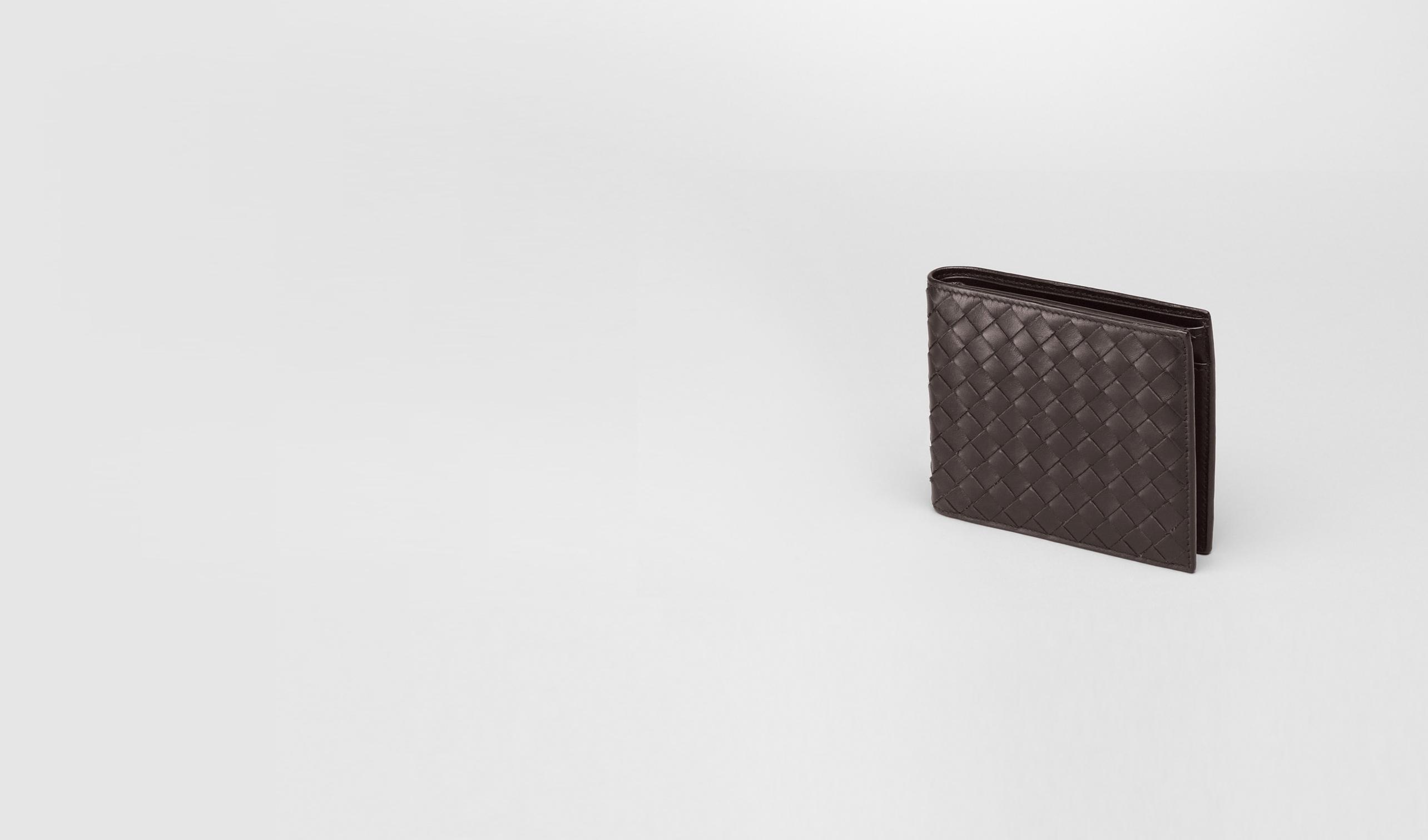 BOTTEGA VENETA Bi-fold Wallet U Ebano Intrecciato VN Wallet pl
