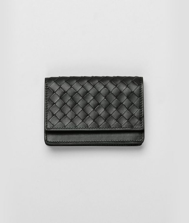 BOTTEGA VENETA Ardoise Intrecciato VN Card Case Card Case or Coin Purse U fp