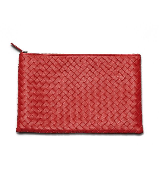 BOTTEGA VENETA DOCUMENT CASE IN BLOOD INTRECCIATO NAPPA Other Leather Accessory E fp