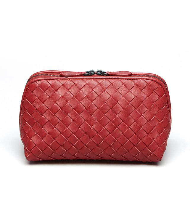 BOTTEGA VENETA Blood Intrecciato Nappa Cosmetic Case Other Leather Accessory D fp