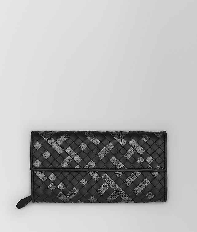 BOTTEGA VENETA CONTINENTAL WALLET IN NERO INTRECCIATO NAPPA AND AYERS Continental Wallet D fp