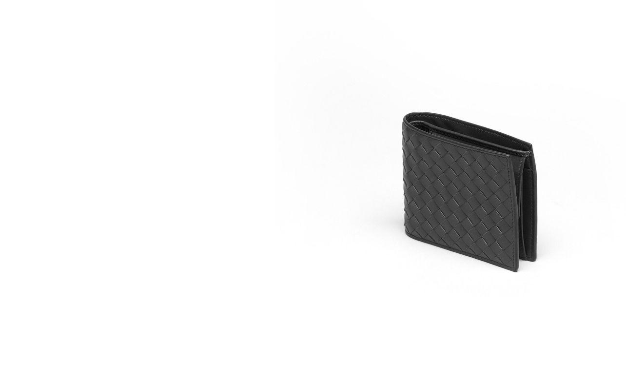 BOTTEGA VENETA Bi-fold Wallet U WALLET IN NERO INTRECCIATO VN pl