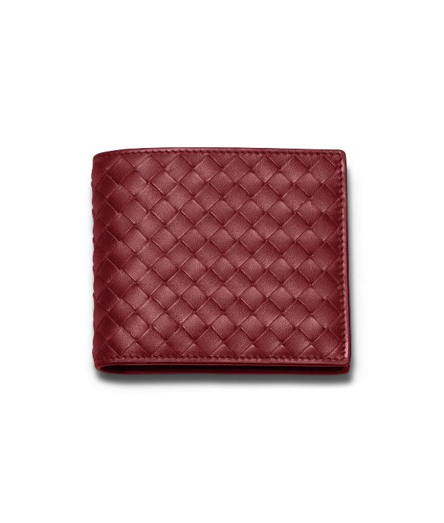 BOTTEGA VENETA WALLET IN VERMILLON INTRECCIATO VN Bi-fold Wallet U fp
