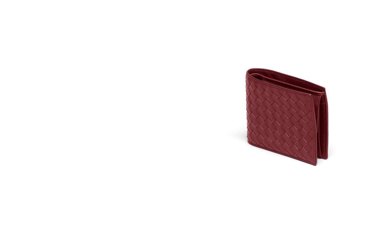 BOTTEGA VENETA Bi-fold Wallet U WALLET IN VERMILLON INTRECCIATO VN pl