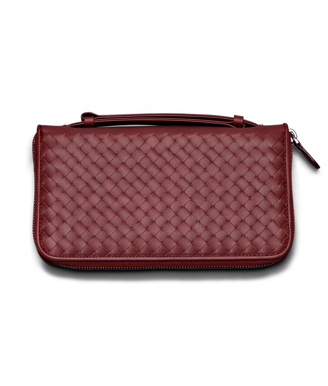 BOTTEGA VENETA DOCUMENT CASE IN VERMILLON INTRECCIATO VN Other Leather Accessory E fp