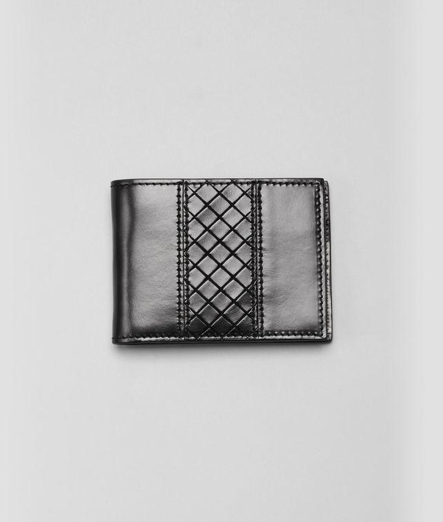 BOTTEGA VENETA Nero Intreccio Scolpito Wallet Bi-fold Wallet U fp