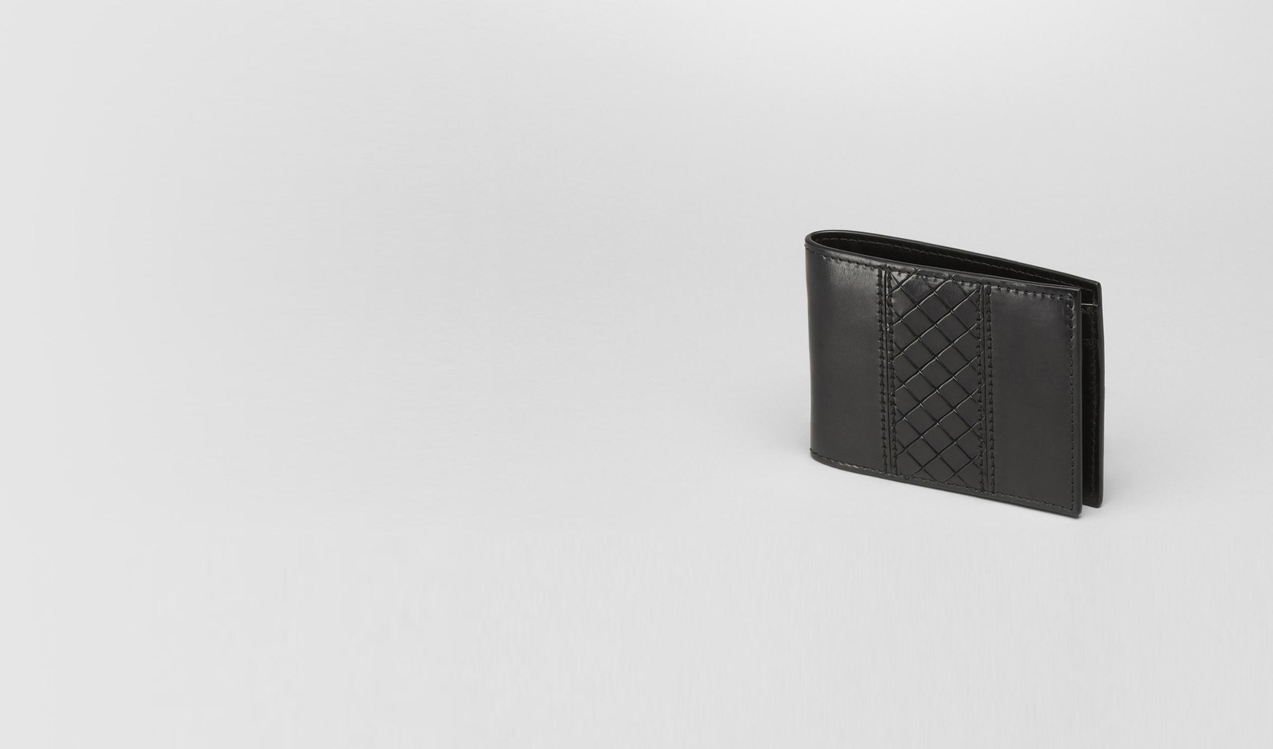 BOTTEGA VENETA Bi-fold Wallet U Nero Intreccio Scolpito Wallet pl