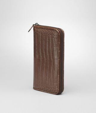 Edoardo Soft Crocodile Fume Zip Around Wallet