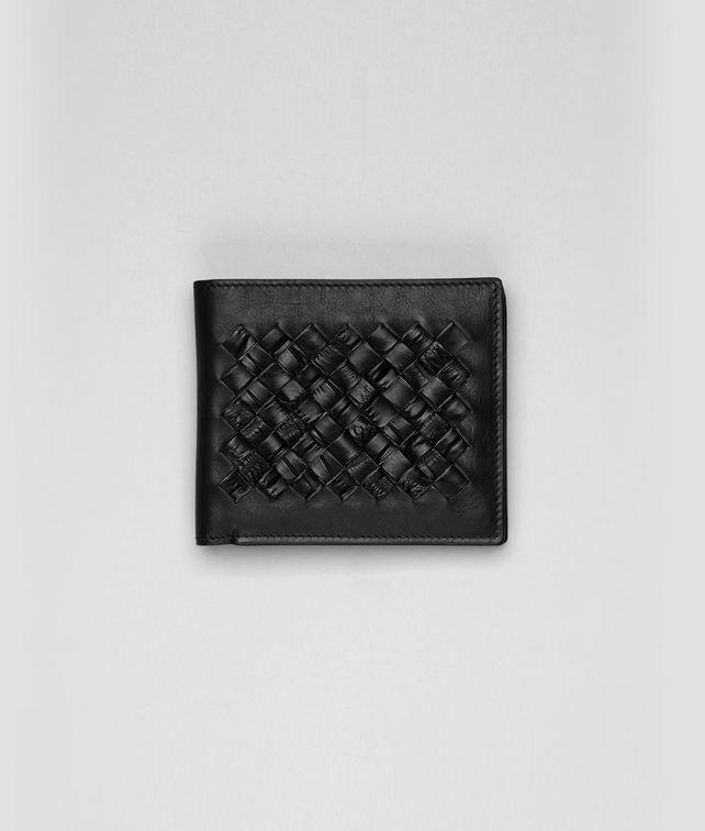 BOTTEGA VENETA Nero Intrecciato Crocodile Fume Wallet Bi-fold Wallet U fp