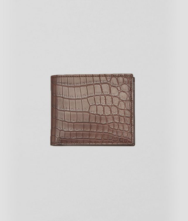 BOTTEGA VENETA BI-FOLD WALLET WITH COIN PURSE IN EDOARDO CROCODILE Bi-fold Wallet U fp