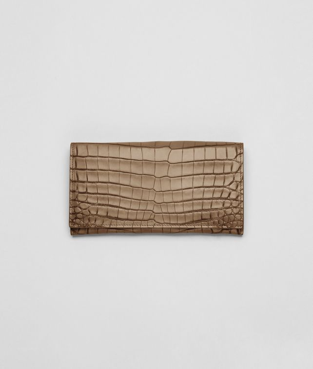 BOTTEGA VENETA CONTINENTAL WALLET IN CIGAR EBANO CROCODILE Continental Wallet U fp
