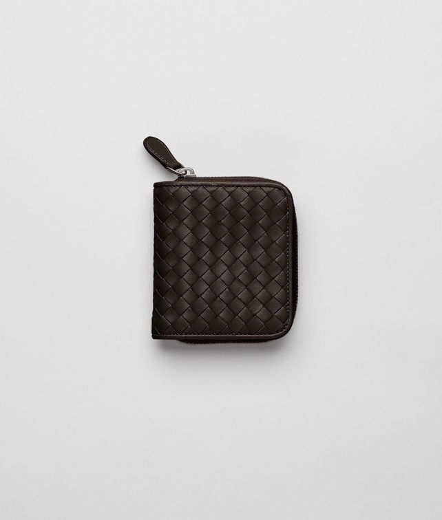 BOTTEGA VENETA Ebano Intrecciato Nappa Mini Wallet Mini Wallet or Coin Purse D fp