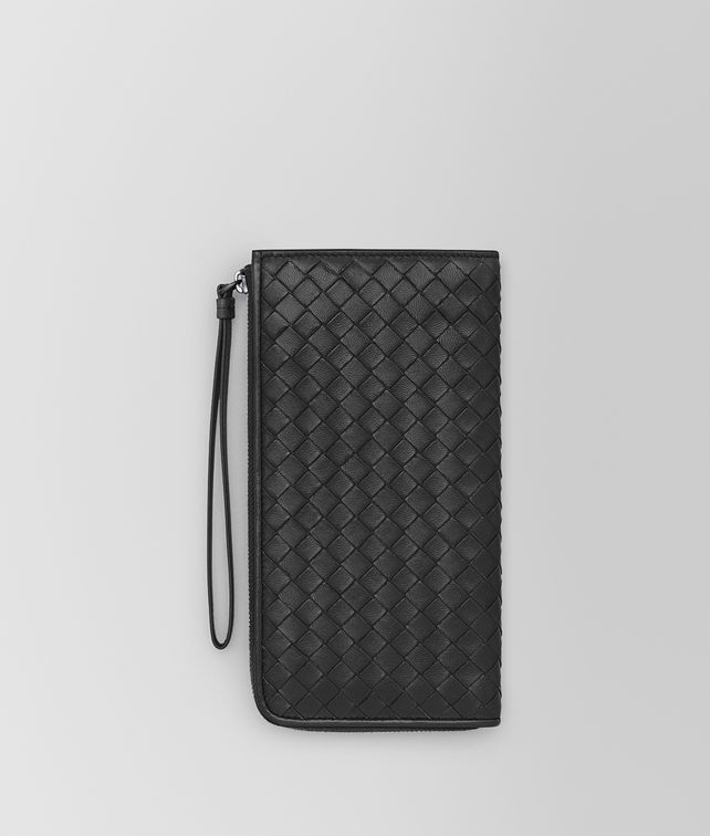 BOTTEGA VENETA NERO INTRECCIATO NAPPA ZIP-AROUND WALLET Zip Around Wallet D fp