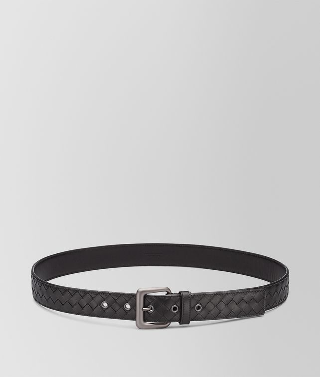 BOTTEGA VENETA BELT IN NERO INTRECCIATO VN Belt U fp