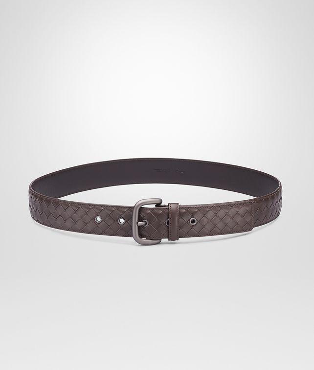 BOTTEGA VENETA Cintura Ebano in VN Intrecciato Cintura U fp