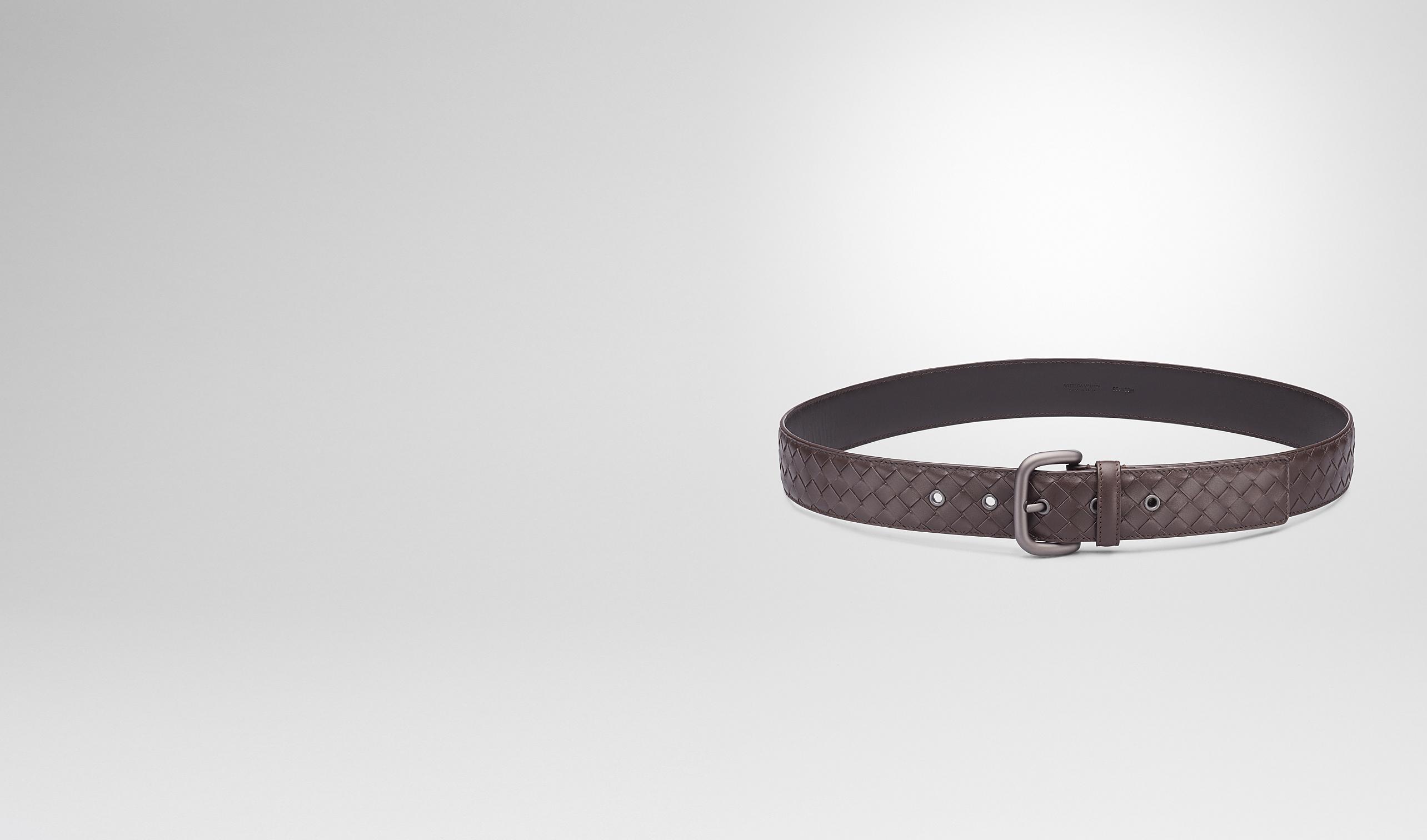 BOTTEGA VENETA Cintura U Cintura Ebano in VN Intrecciato pl