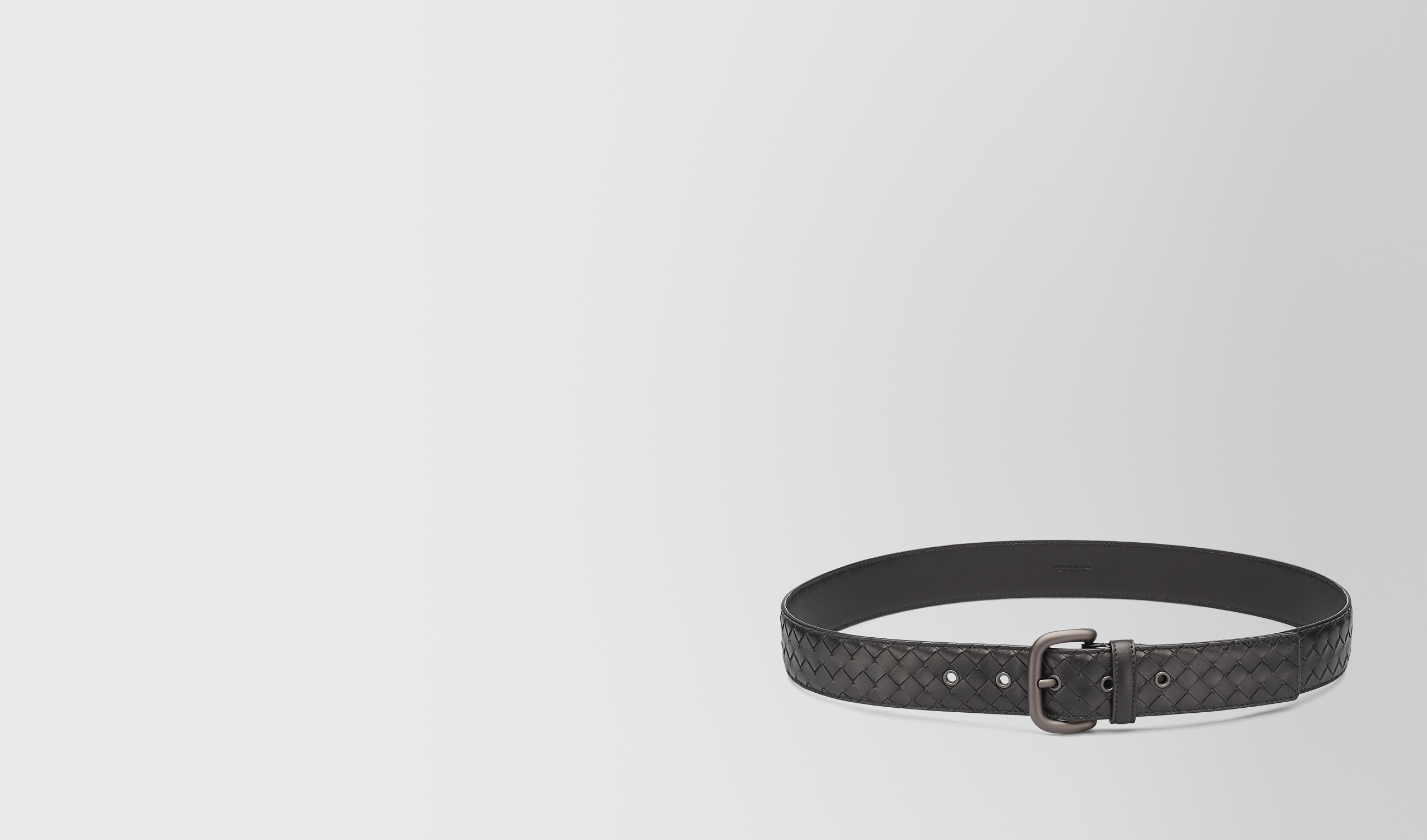 BOTTEGA VENETA Belt U BELT IN NERO INTRECCIATO VN pl