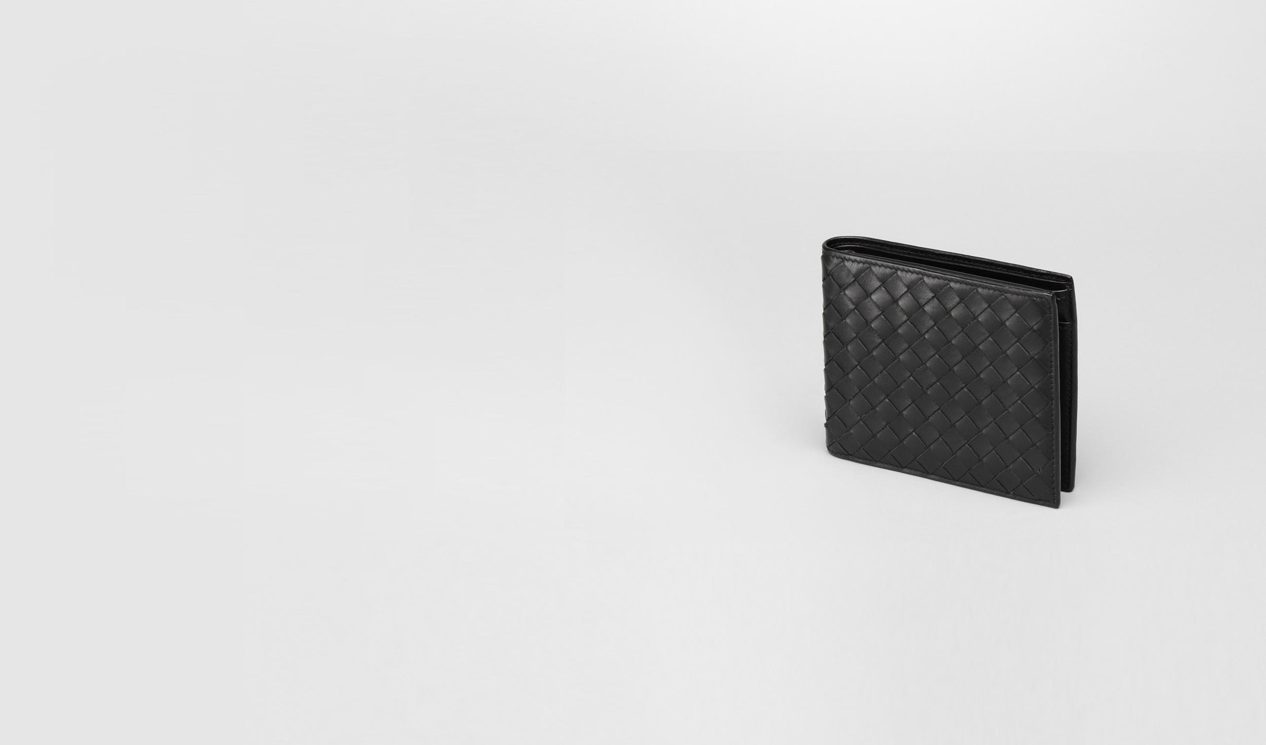 BOTTEGA VENETA Bi-fold Wallet U Nero Intrecciato VN Wallet pl