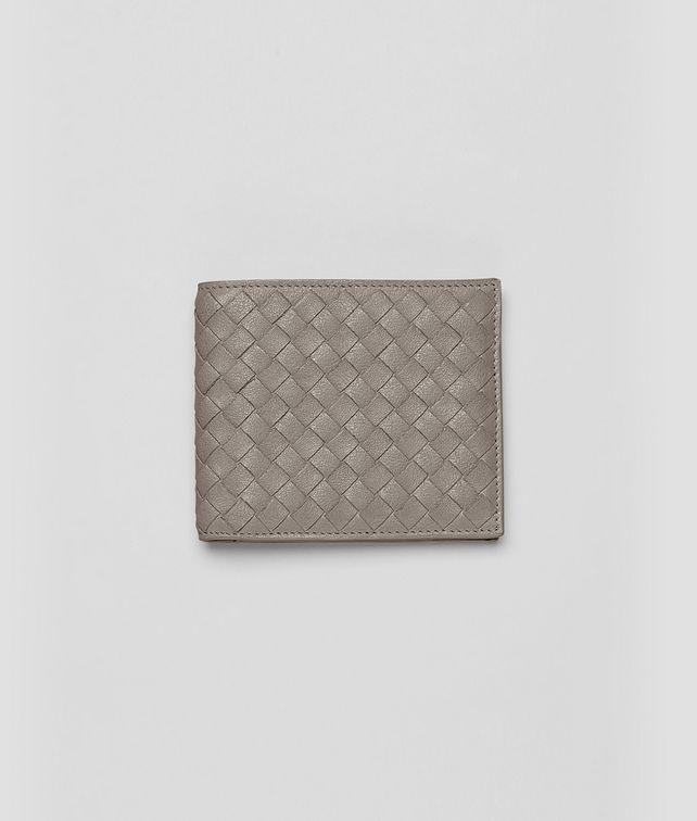 BOTTEGA VENETA Fume Intrecciato Washed Lambskin Wallet Bi-fold Wallet U fp