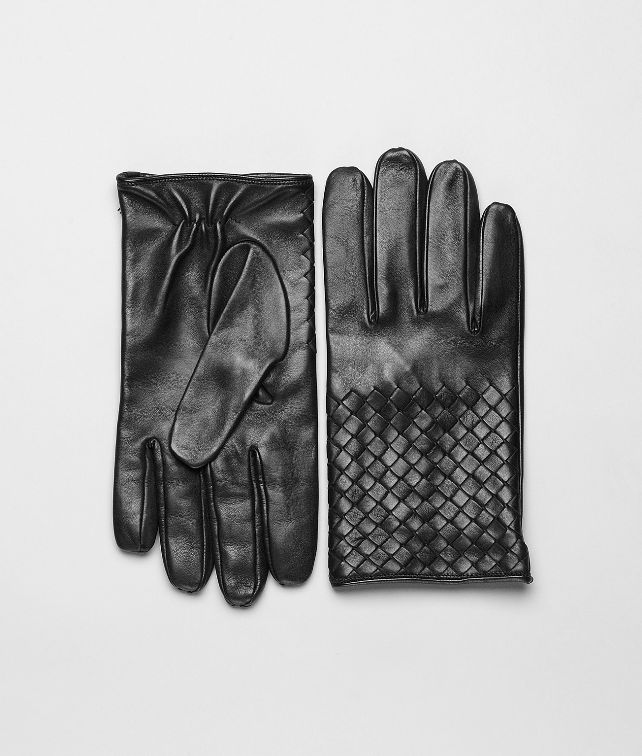 BOTTEGA VENETA Nero Intrecciato Soft Nappa Gloves Scarf or Hat or Glove U fp