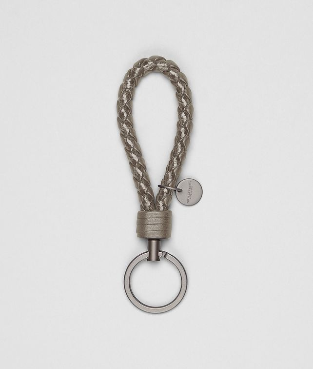 BOTTEGA VENETA Porte-clés Fumé en ayers Intrecciato Porte-clé ou Bracelet E fp