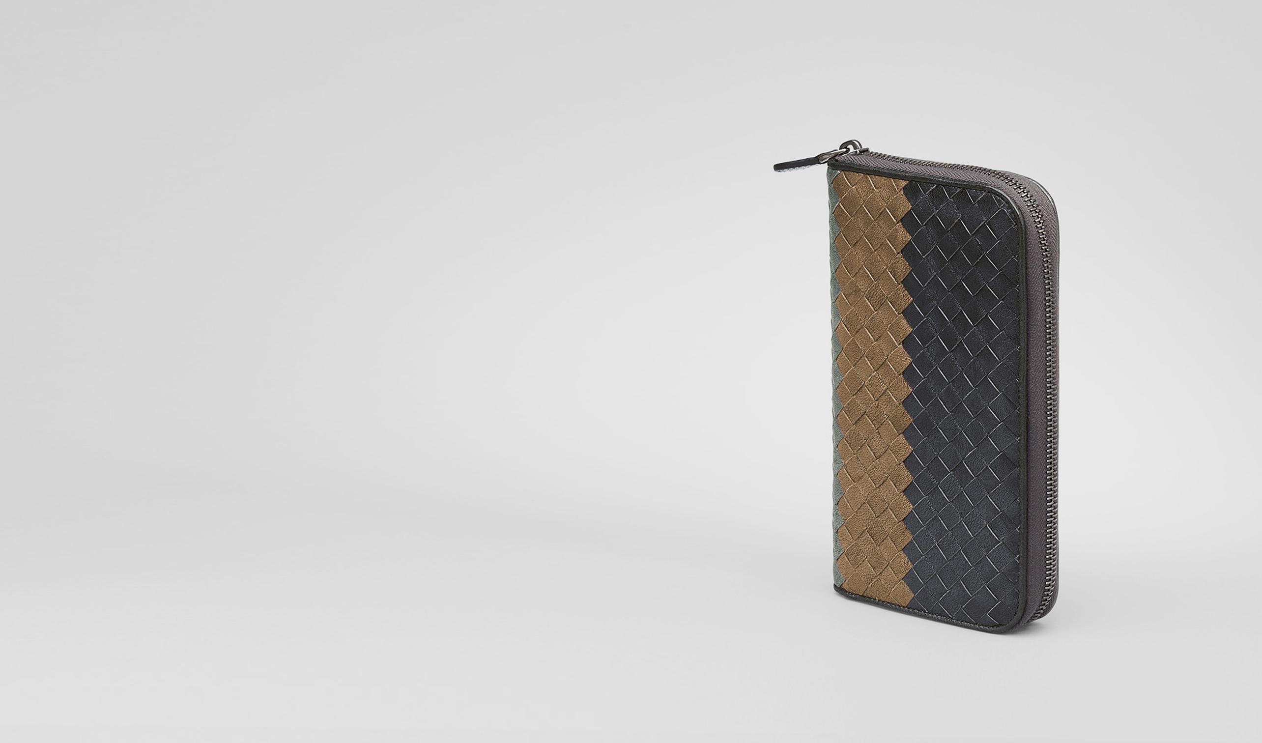 BOTTEGA VENETA Zip Around Wallet U Ardoise Bronze Frontiere Intrecciato Club Fume Zip Around Wallet pl