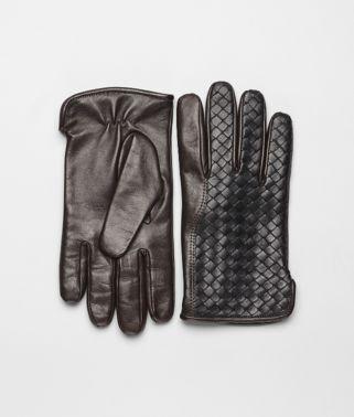 Nero Ebano Intrecciato Soft Nappa Gloves
