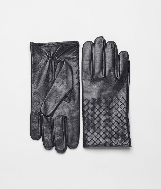 BOTTEGA VENETA Handschuhe aus weichem Nappaleder Intrecciato Ardoise Schal oder Hut oder Handschuhe U fp