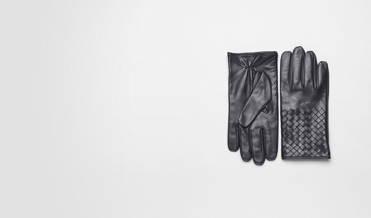 BOTTEGA VENETA Schal oder Hut oder Handschuhe U Handschuhe aus weichem Nappaleder Intrecciato Ardoise pl