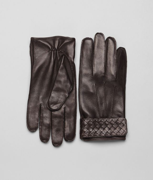 BOTTEGA VENETA Ebano Soft Nappa Gloves Scarf or Hat or Glove U fp