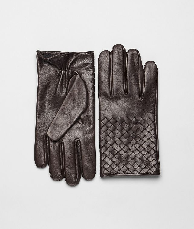 BOTTEGA VENETA Ebano Intrecciato Soft Nappa Gloves Scarf or Hat or Glove U fp