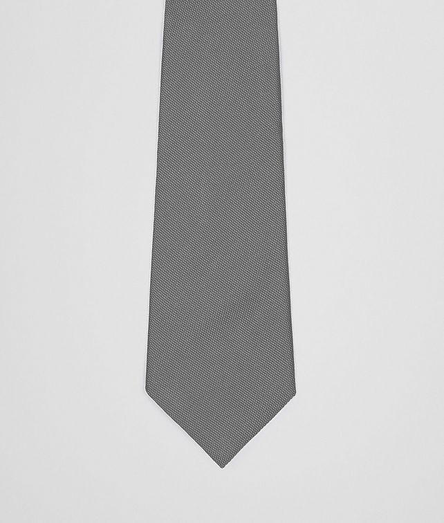 BOTTEGA VENETA Anthracite Silk Tie Tie U fp