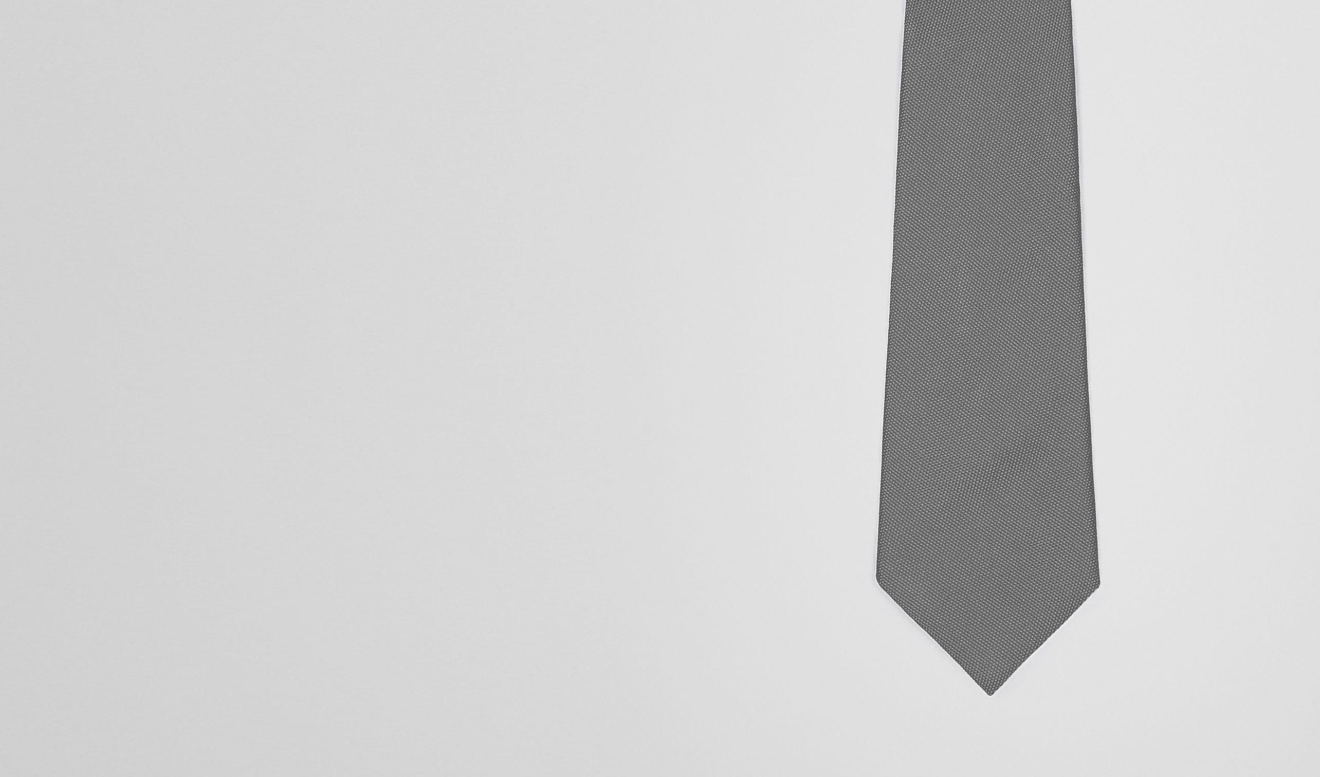 BOTTEGA VENETA Tie U Anthracite Silk Tie pl
