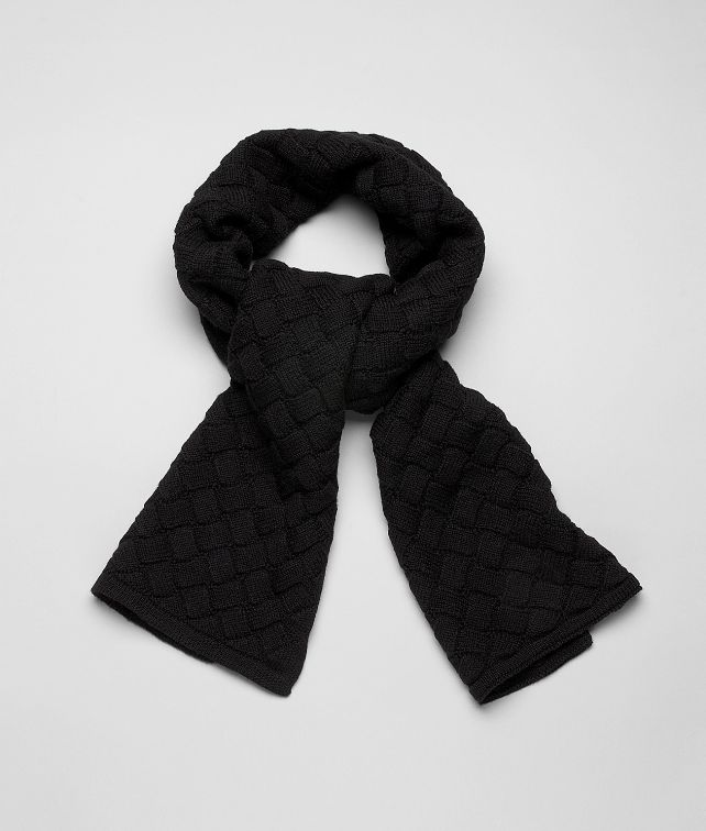 BOTTEGA VENETA SCARF IN NERO WOOL Scarf or Hat or Glove U fp