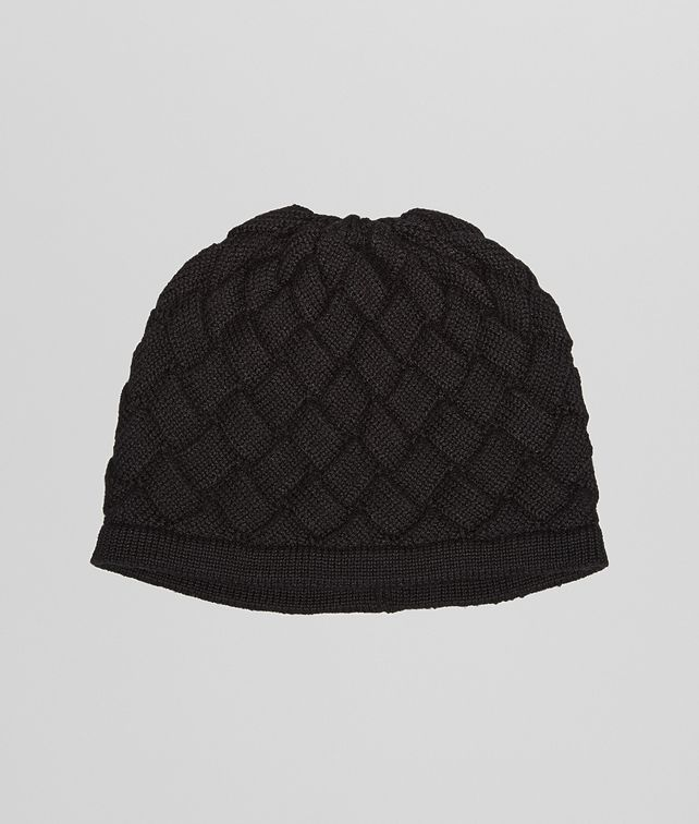 BOTTEGA VENETA HAT IN NERO WOOL Scarf or Hat or Glove U fp