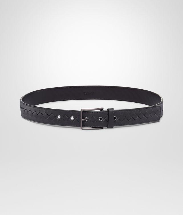 BOTTEGA VENETA Nero Intrecciato Vachette Belt Belt U fp