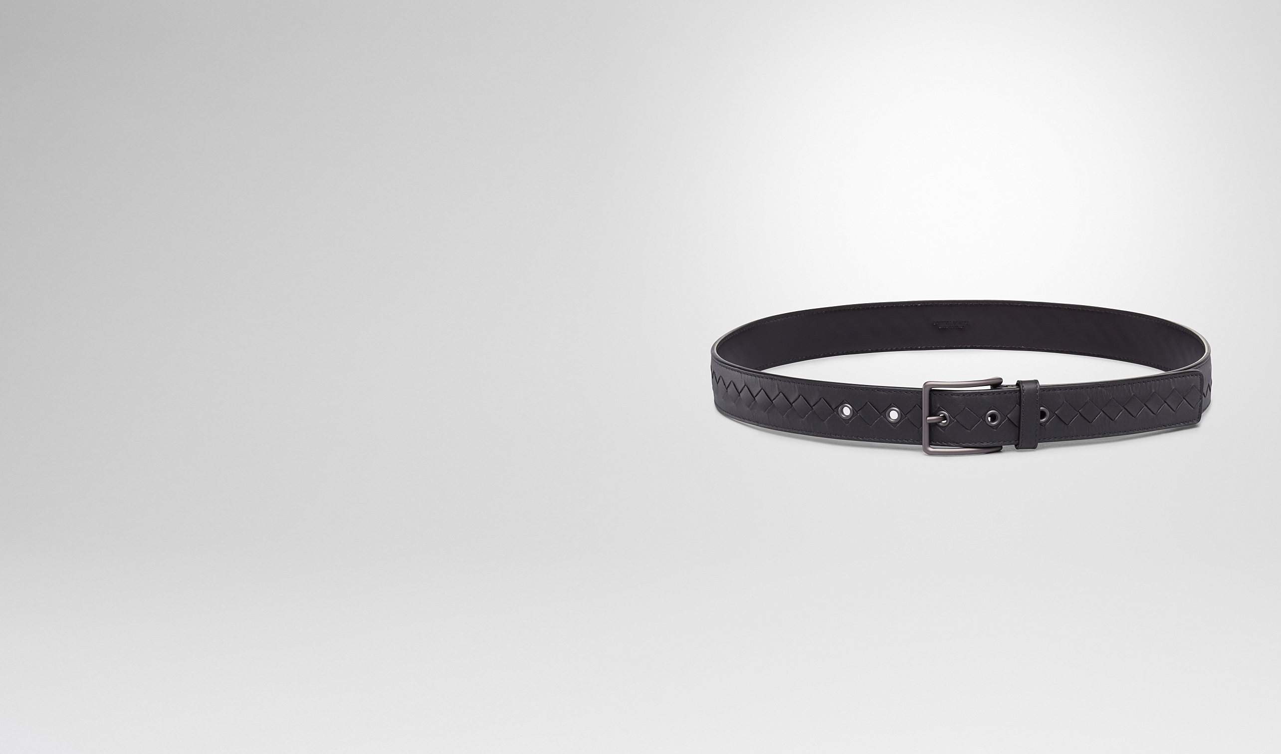BOTTEGA VENETA Belt U Nero Intrecciato Vachette Belt pl