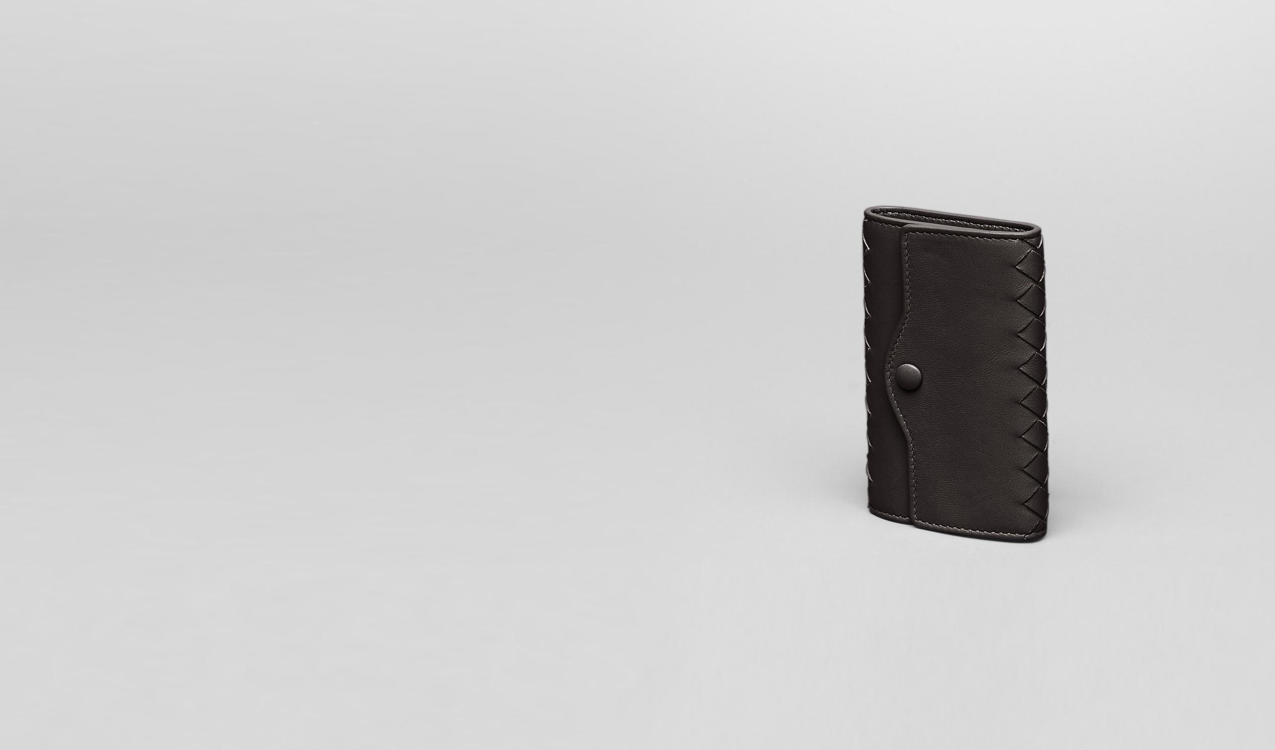 BOTTEGA VENETA Keyring or Bracelets E Ebano Intrecciato Nappa Key Case pl