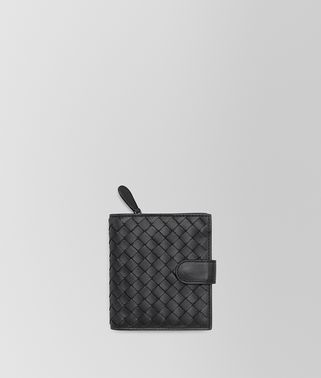 MINI WALLET IN NERO INTRECCIATO NAPPA