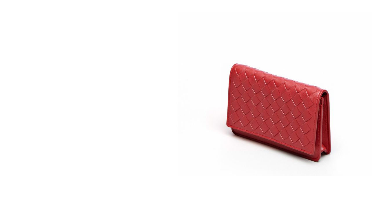 BOTTEGA VENETA Other Leather Accessory E CARD CASE IN BLOOD INTRECCIATO NAPPA pl